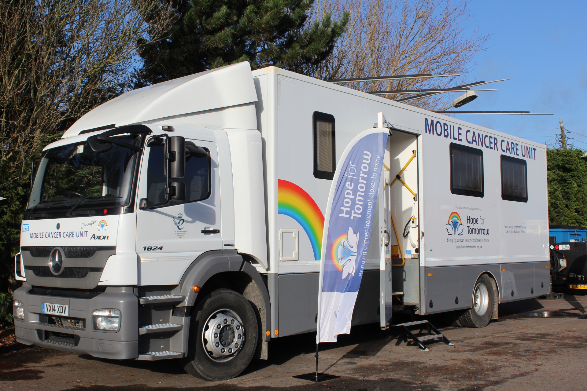 A photo of a Mobile Cancer Care Unit