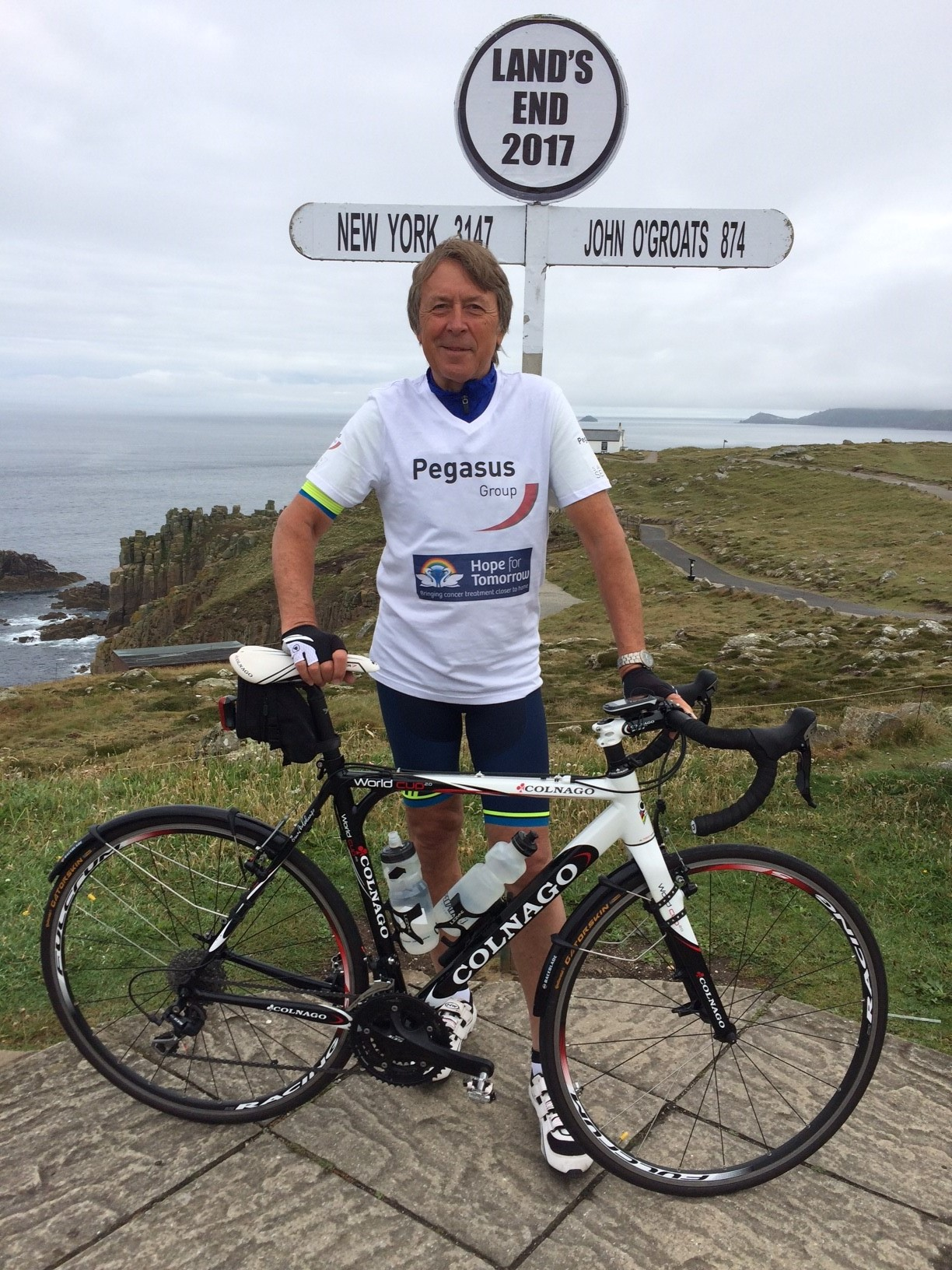 Stephen Bawtree on his Lands End to John O' Grotes cycle challenge 2017